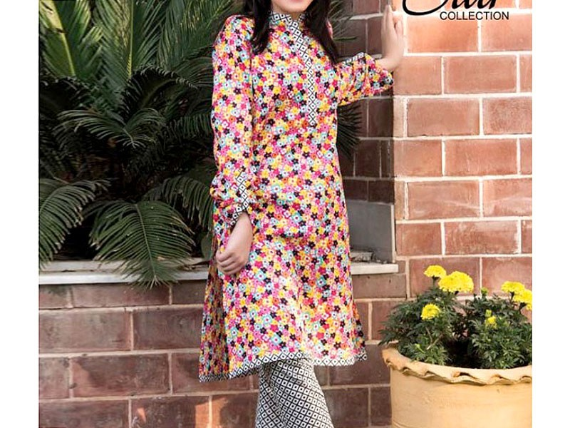 2 Piece Star Printed Lawn Suit 905-C