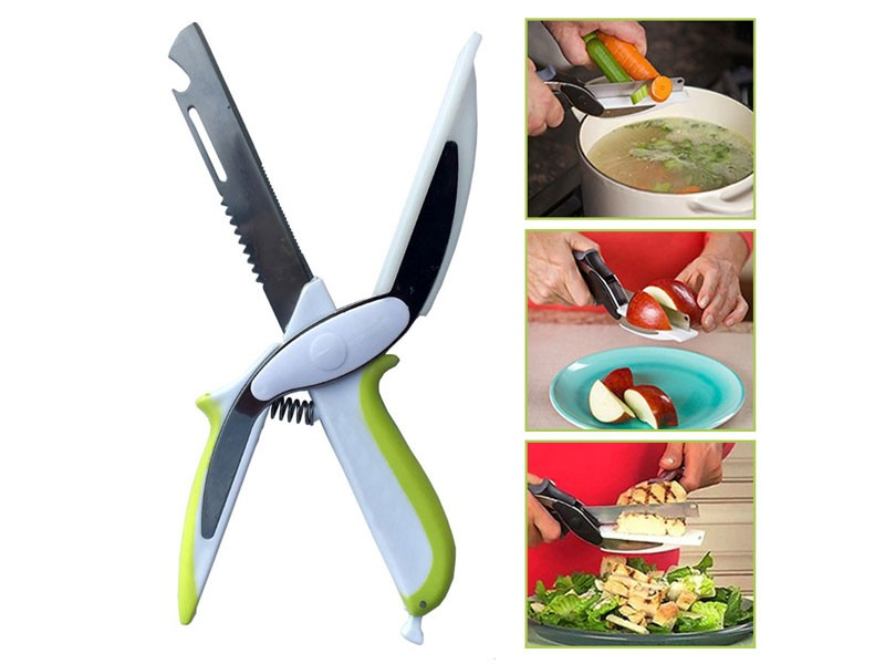 6-in-1 Clever Smart Cutter Knife & Cutting Board in Pakistan