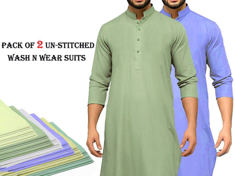 Pack of 2 Un-Stitched Mens Suits Price in Pakistan