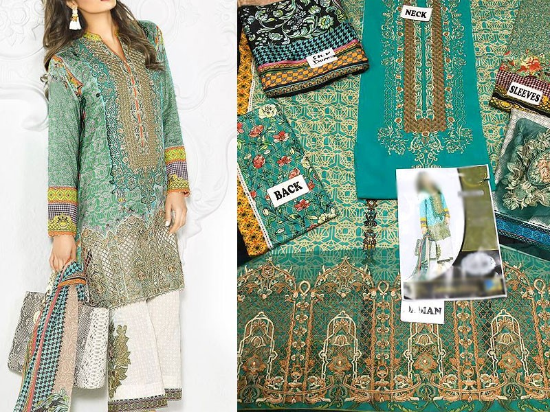 964f486fd8 Embroidered Lawn Suit with Silk Dupatta Price in Pakistan (M009571 ...