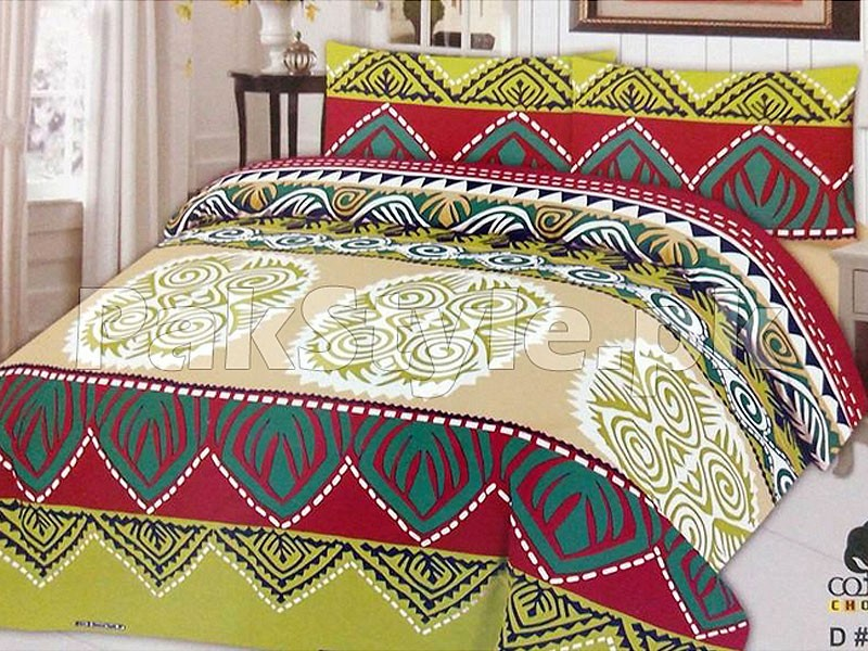 King Size Cotton Bed Sheet with 2 Pillow Covers