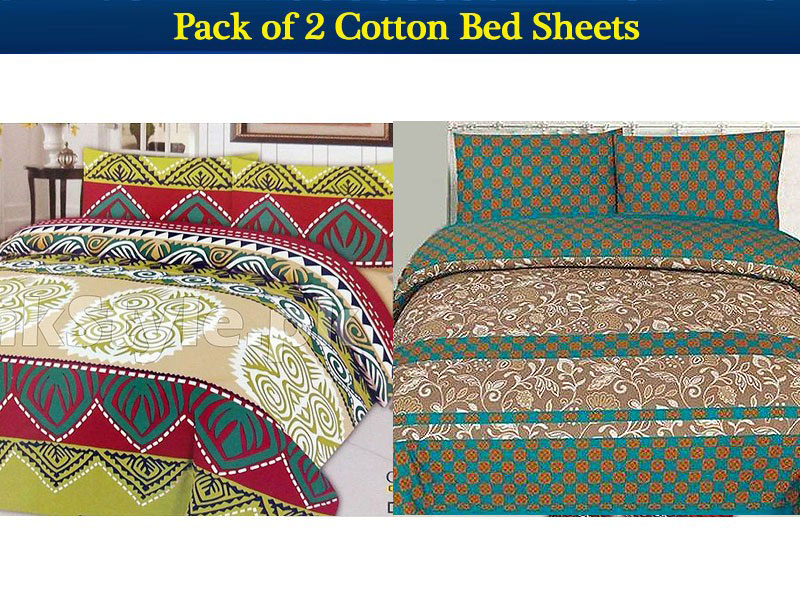 Pack of 2 Bed Sheets of Your Choice Price in Pakistan
