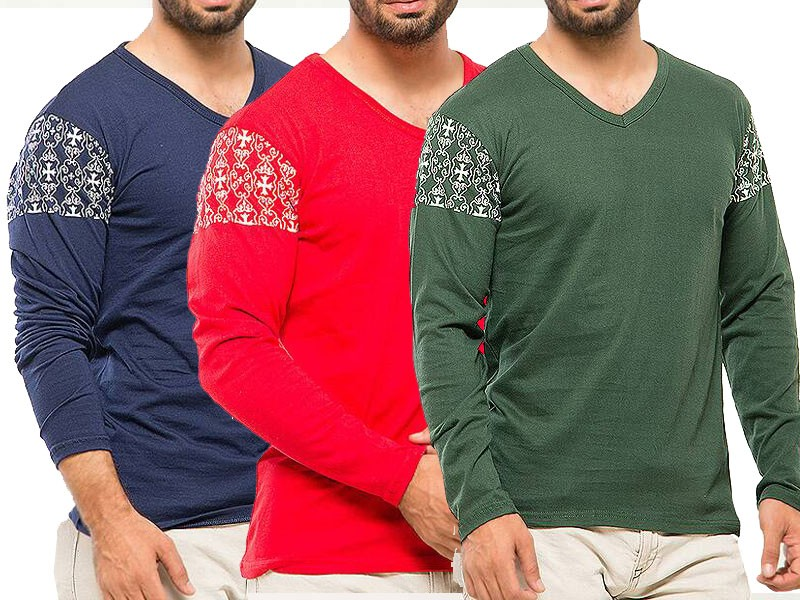 Pack of 3 Arm Print T-Shirts