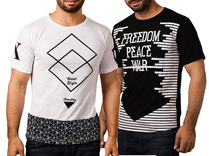 Pack of 2 Printed T-Shirts