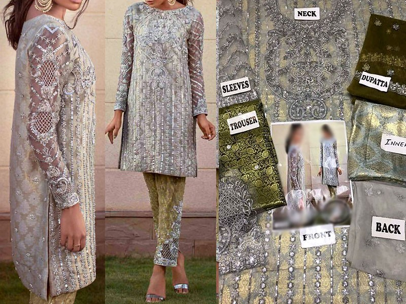Embroidered Net Dress with Net Dupatta Price in Pakistan