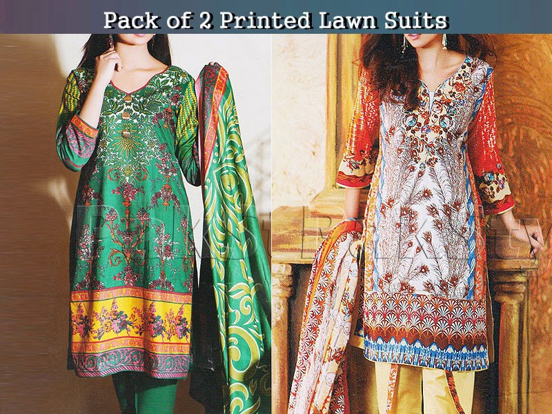 Pack of 2 Abrish Classic Lawn Suits of Your Choice Price in Pakistan