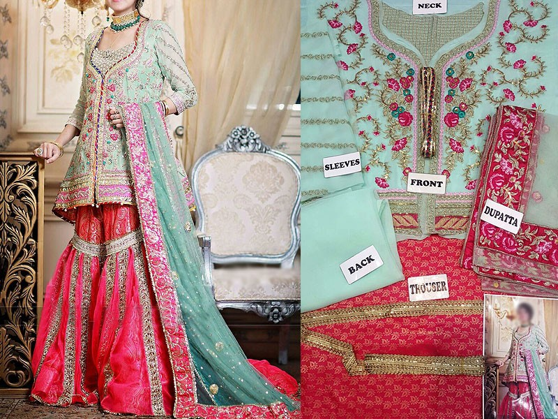 Embroidered Chiffon Suit with Net Dupatta