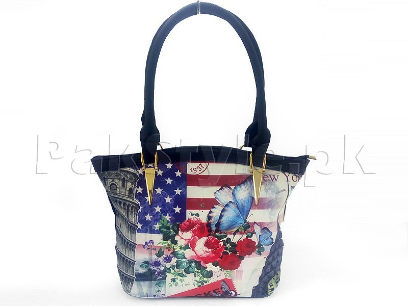 Pisa Tower Printed Tote Bag