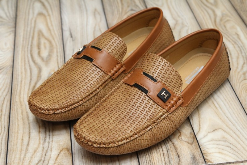 Designer Loafers for Men Camel