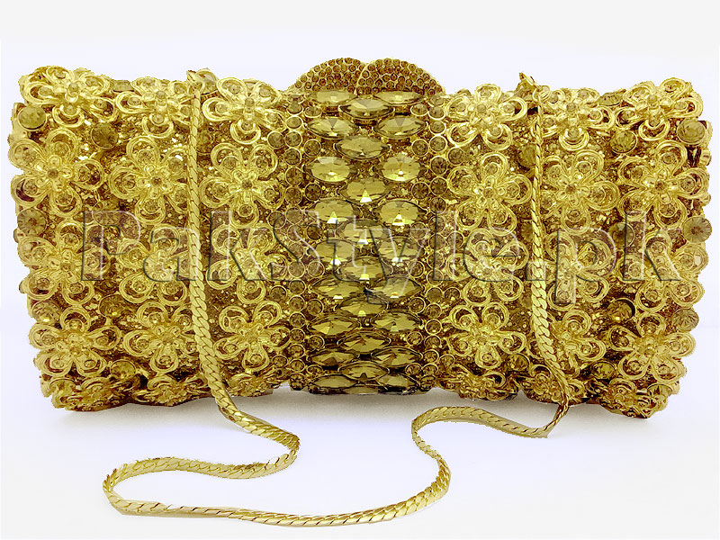 Luxury Rhinestone Bridal Clutch Price in Pakistan