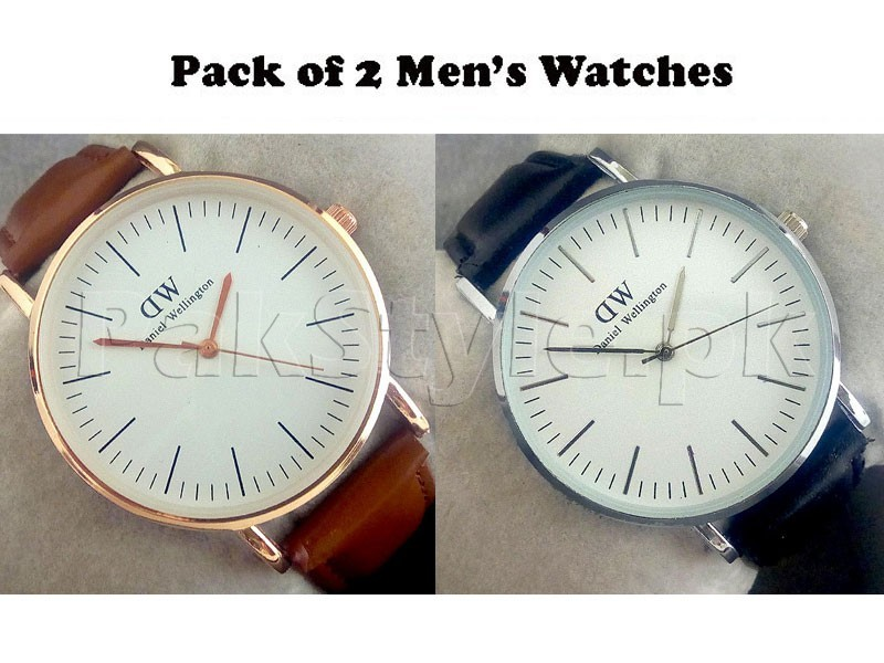 Pack of 2 DW Watches For Men Price in Pakistan