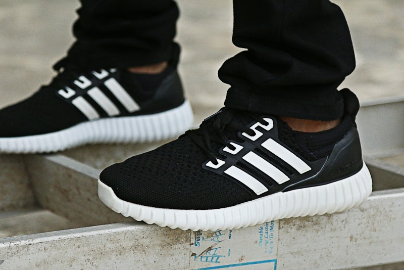 Men's Ultra Boost Running Shoes - Black White in Pakistan