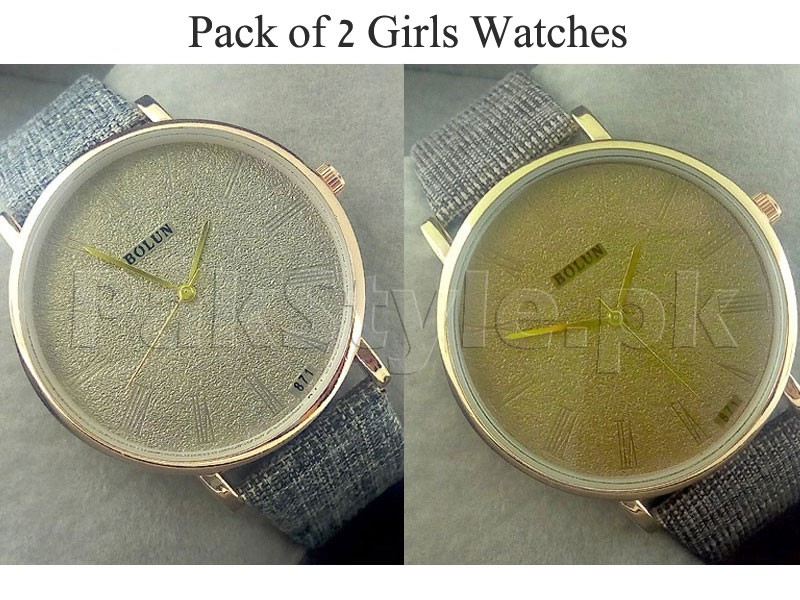 Pack of 2 Bolun Watches For Girls