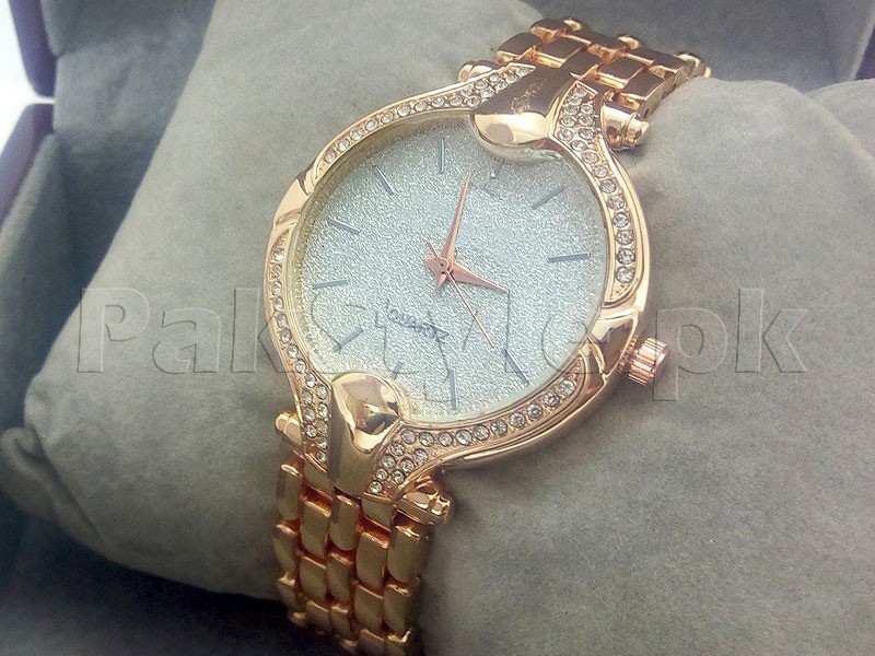 Rhinestone Dial Women's Watch - Golden
