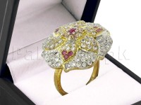 AD Flower Shape Adjustable Ring in Pakistan