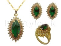 Green Gemstone Jewelry Set in Pakistan
