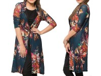 Shrug Style Floral Top - Black in Pakistan