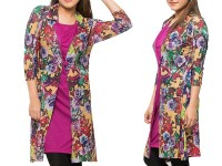 Shrug Style Floral Top - Pink in Pakistan