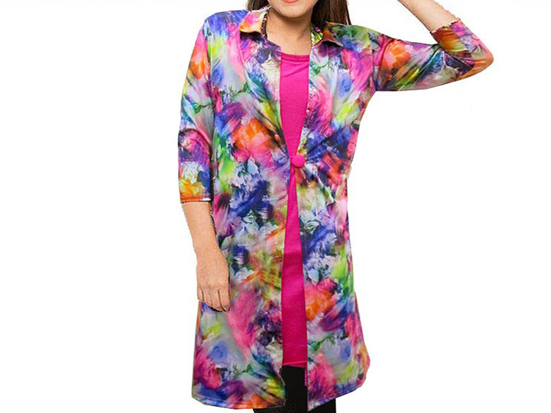 Ladies Shrug Style Floral Top