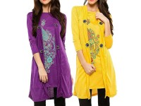 Pack of 2 Shrug Style Printed Tops in Pakistan