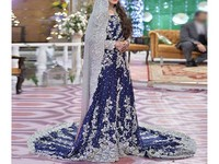 Heavy Embroidered Chiffon Bridal Dress in Pakistan