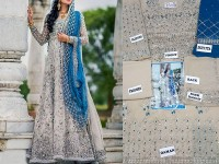 Embroidered Chiffon Bridal Maxi Dress in Pakistan