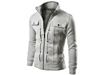 Stylish Men's Fleece Jacket - Grey in Pakistan