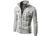 Stylish Men's Fleece Jacket - Grey in Pakistan