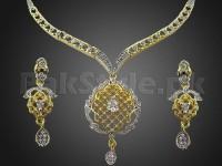 Elegant AD Stone Jewelry Pendant Set in Pakistan