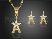 Delicate Eiffel Tower Necklace Set in Pakistan