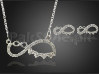 Effie Queen Sign Jewelry Set - Silver in Pakistan