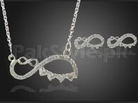 Effie Queen Sign Jewelry Set - Silver in Pakistan