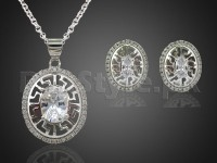 Fashion Silver Necklace Set in Pakistan
