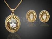Fashion Golden Necklace Set Price in Pakistan