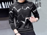 Men's Black Fleece Sweatshirt in Pakistan
