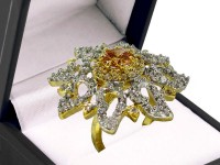 Stunning Floral AD Ring Price in Pakistan