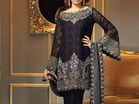 Embroidered Chiffon Black Suit in Pakistan