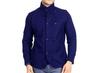 Stylish Men's Winter Coat - Navy Blue in Pakistan