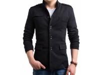 Turkish Winter Fleece Coat - Black in Pakistan
