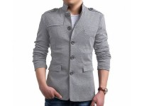 Turkish Winter Fleece Coat - Grey in Pakistan