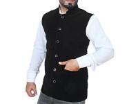 Men's Velvet Waistcoat - Black in Pakistan