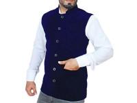 Men's Velvet Waistcoat - Navy Blue in Pakistan