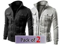 Pack of 2 Stylish Men's Fleece Jackets in Pakistan
