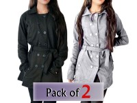 Pack of 2 Ladies Fleece Winter Coats in Pakistan