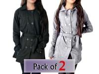 Pack of 2 Ladies Fleece Winter Coats in Pakistan