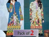 Pack of 2 Stitched Digital Kurti of Your Choice Price in Pakistan