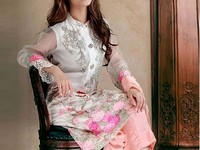 Elegant Embroidered Net Dress in Pakistan