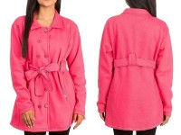 Women's Fleece Winter Coat - Pink in Pakistan