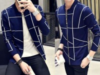 Stylish Men's Fleece Jacket - Navy Blue in Pakistan