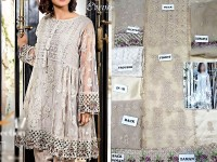Designer Embroidered Net Dress with Jamawar Trouser in Pakistan